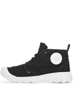 Palladium | Черные Текстильные Ботинки С Нашивками
