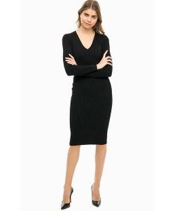 Michael Michael Kors | Черное Трикотажное Платье С Длинными Рукавами
