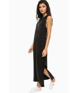 Calvin Klein Jeans | Черное Платье Без Рукавов С Разрезом