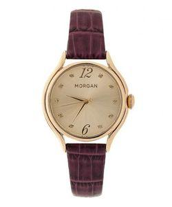 Morgan | Часы С Фиолетовым Ремешком С Текстурной Обработкой Под Крокодила