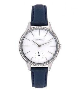 Karen Millen   Часы Из Нержавеющей Стали С Отделкой Кристаллами