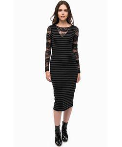 Liu •Jo   Трикотажное Платье С Кружевными Вставками