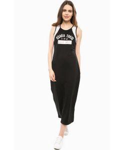 LIU •JO SPORT | Черное Платье С Отделкой Стразами