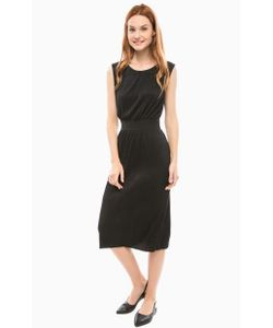 Vero Moda | Черное Платье С Разрезом Сзади