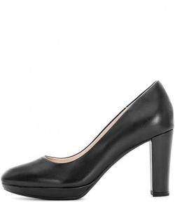 Clarks | Черные Кожаные Туфли На Устойчивом Каблуке