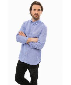 Diesel | Синяя Льняная Рубашка С Длинными Рукавами
