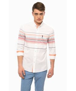 U.S. Polo Assn. | Приталенная Рубашка Из Хлопка В Полоску