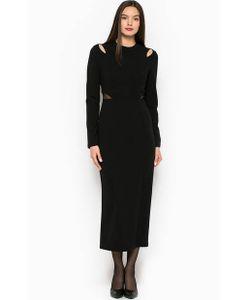 Silvian Heach   Длинное Однотонное Платье С Прозрачными Вставками