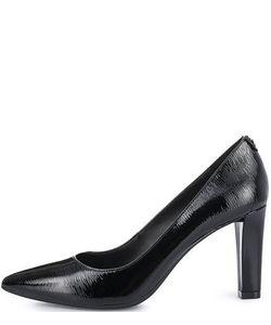 Michael Michael Kors | Черные Кожаные Туфли На Каблуке