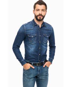 Wrangler | Синяя Джинсовая Рубашка С Карманами
