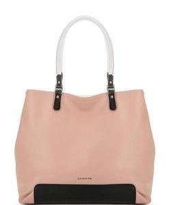 Cromia | Розовая Кожаная Сумка На Молнии