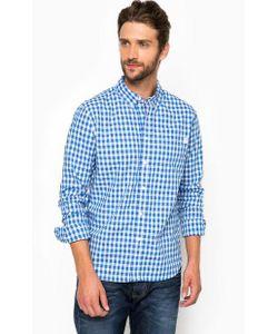 Pepe Jeans | Синяя Хлопковая Рубашка Приталенного Кроя