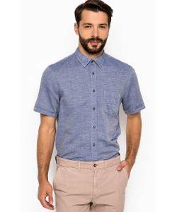 18CRR81 CERRUTI | Синяя Хлопковая Рубашка