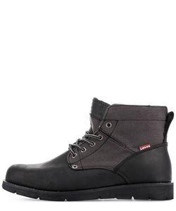 Levi's® | Кожаные Ботинки С Текстильным Годенищем