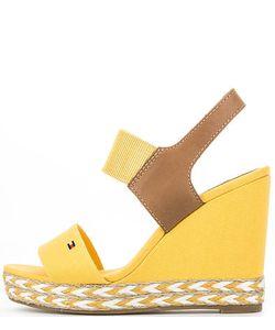 Tommy Hilfiger | Желтые Текстильные Босоножки