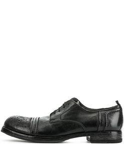 Moma | Черные Кожаные Туфли На Шнуровке