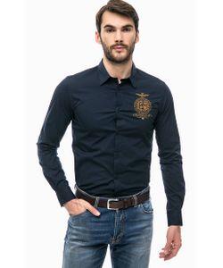Aeronautica Militare | Синяя Рубашка Из Хлопка С Вышивкой