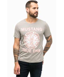 Mustang | Хлопковая Футболка С Принтом