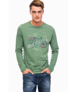Pepe Jeans London | Зеленая Хлопковая Футболка С Принтом