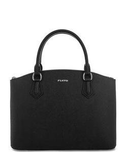 Fiato | Черная Кожаная Сумка С Короткими Ручками