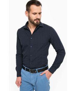 ARMANI JEANS | Синяя Приталенная Рубашка Из Хлопка
