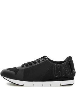 Calvin Klein Jeans | Черные Текстильные Кроссовки На Шнуровке