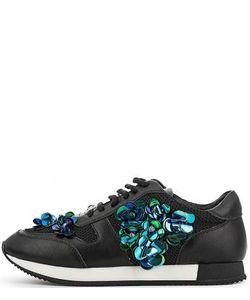 MASSIMO SANTINI | Черные Текстильные Кроссовки