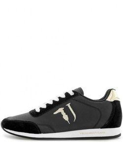 Trussardi Jeans | Черные Кроссовки С Втачной Стелькой