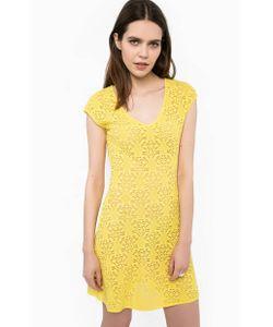 Liu •Jo | Ажурное Желтое Платье С Треугольным Вырезом