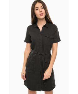 Mavi | Черное Платье-Рубашка С Накладными Карманами