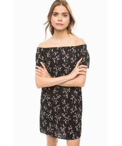 TOM TAILOR | Короткое Черное Платье С Открытыми Плечами