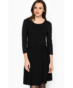 TOM TAILOR | Приталенное Черное Платье Из Вискозы