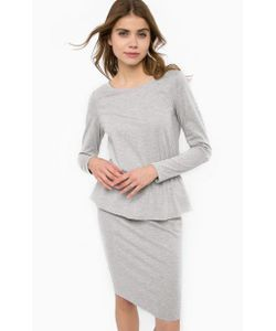 ICHI | Удлиненное Платье С Баской