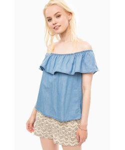Vero Moda   Блуза Из Денима На Резинке