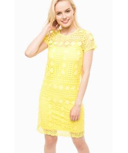 Liu •Jo Jeans   Желтое Платье Со Съемной Подкладкой