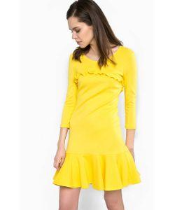Patrizia Pepe | Короткое Желтое Платье Из Вискозы