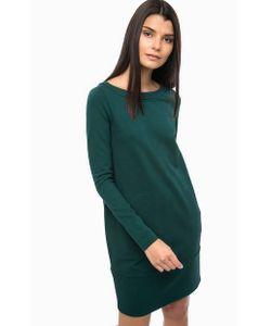 Twin-Set Simona Barbieri | Зеленое Платье С Длинными Рукавами