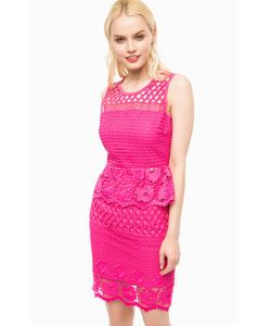 Liu •Jo | Кружевное Платье Цвета Фуксии