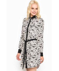 Juicy Couture   Короткое Шелковое Платье С Поясом