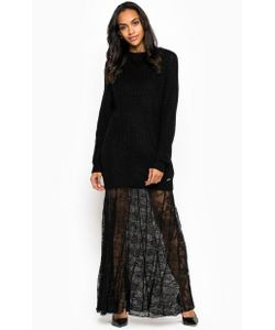 Guess | Черное Платье Со Съемной Подкладкой