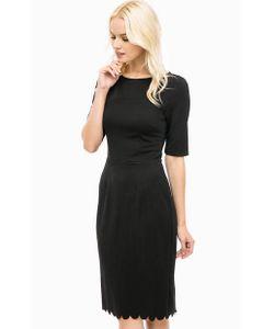 Sugarhill Boutique | Черное Платье-Футляр С Фигурным Краем