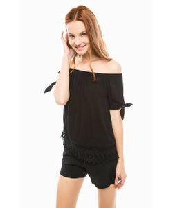 Vero Moda | Черная Блуза С Короткими Рукавами
