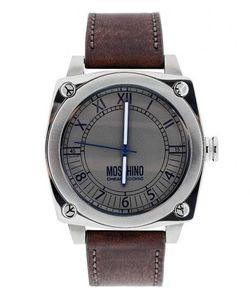 Moschino | Часы С Ремешком Из Натуральной Кожи Коричневого Цвета