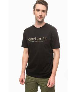 Carhartt WIP | Черная Футболка Из Хлопка С Принтом