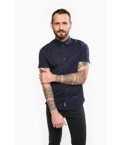 Calvin Klein Jeans | Синяя Приталенная Рубашка Из Хлопка