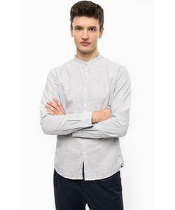 Tom Tailor Denim | Голубая Рубашка Из Хлопка С Воротником-Стойкой