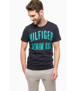 Hilfiger Denim | Синяя Футболка С Принтом