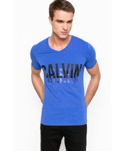 Calvin Klein Jeans | Хлопковая Футболка С V-Образным Вырезом