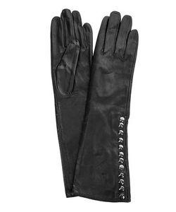 Eleganzza | Черные Кожаные Перчатки С Шелковой Подкладкой