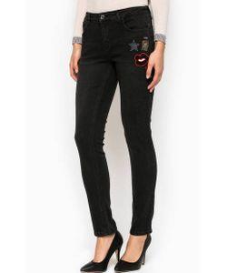 Liu •Jo Jeans | Черные Зауженные Джинсы С Нашивками